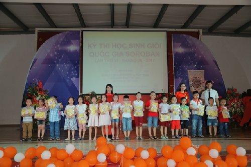 Soroban Cẩm Phả đã suất sắc dành giải đồng đội - Giải dành cho đội có HS đạt giải cao (2017)